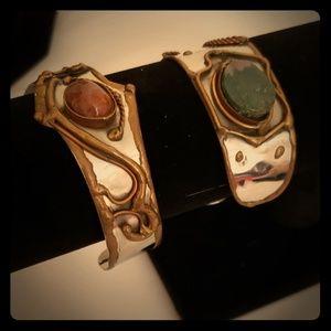 Jewelry - Moroccan design bracelet cuff pair amazing unique!